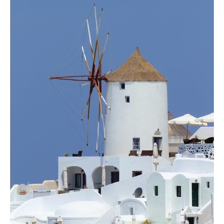 Μύλος στην Οία, Σαντορίνη, Ελλάδα, Αυτοκόλλητα ντουλάπας