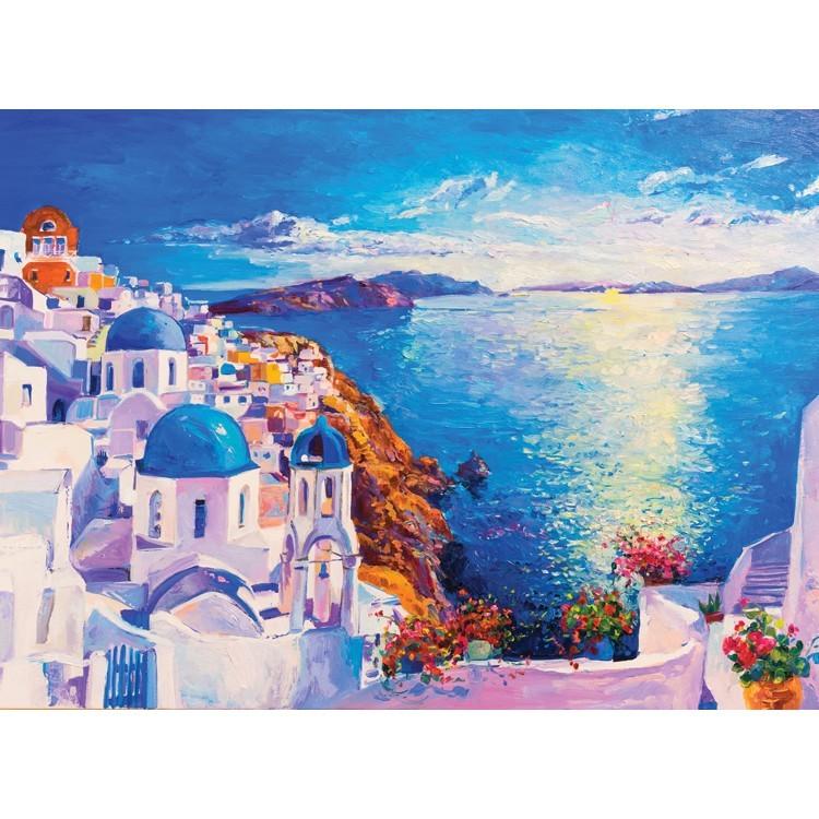 Ελαιογραφία, Ελληνικό Νησί, Ελλάδα, Αυτοκόλλητα ντουλάπας