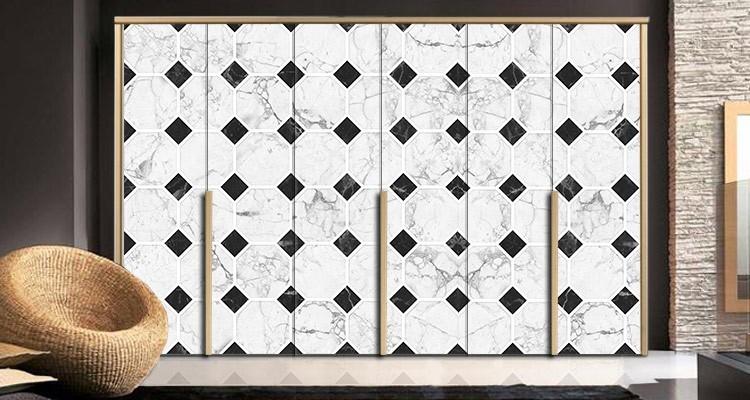 Mαρμάρινο μωσαϊκό, Φόντο - Τοίχοι, Αυτοκόλλητα ντουλάπας