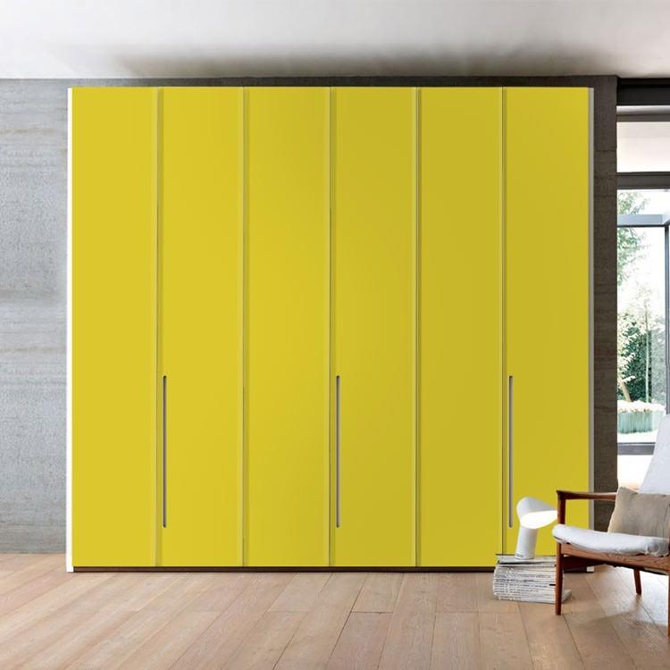 Lemon-Yellow, Μονόχρωμα, Αυτοκόλλητα ντουλάπας