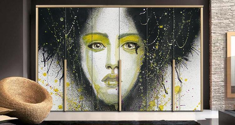 Εικονογραφημένο πορτρέτο, Ζωγραφική, Αυτοκόλλητα ντουλάπας