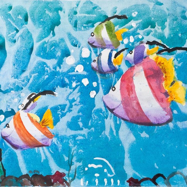 Ψάρια στον βυθό, Παιδικά, Παραβάν