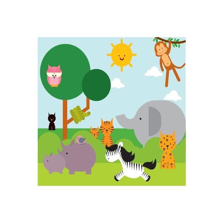 Ζώα στην Ζούγκλα, Παιδικά, Παραβάν