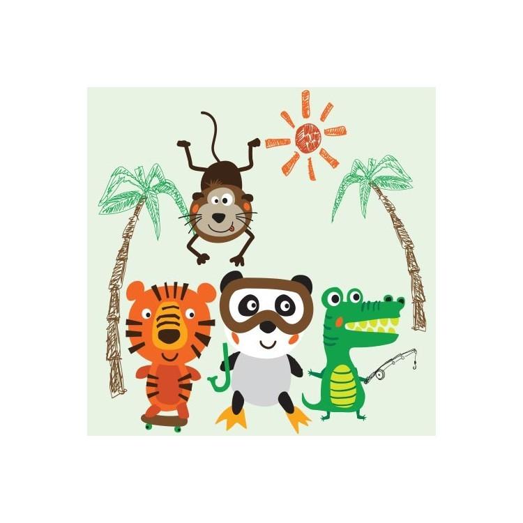 Μικρά ζωάκια της  ζούγκλας, Παιδικά, Παραβάν