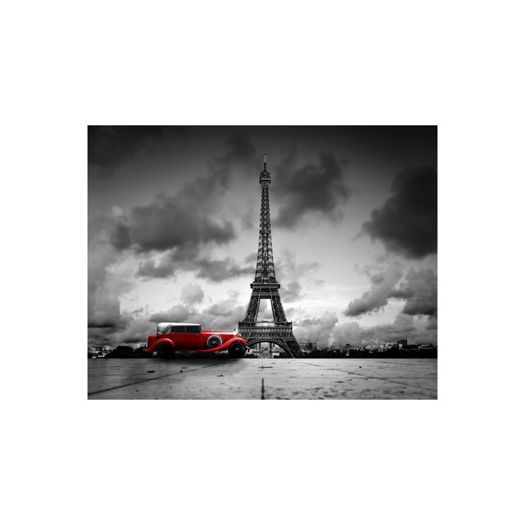 Kόκκινο αυτοκίνητο, Πύργος του Άιφελ, Πόλεις, Παραβάν