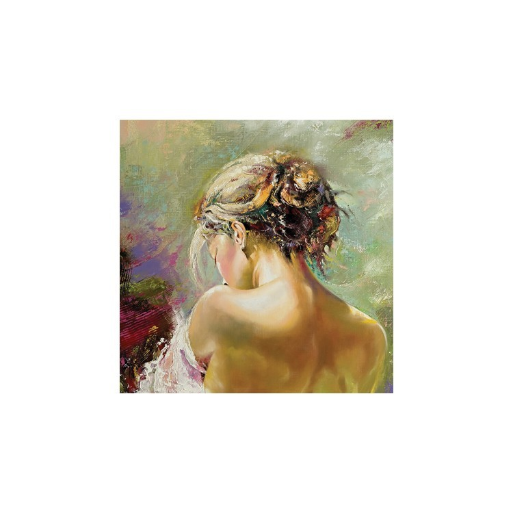Ημίγυμνη γυναίκα, Ζωγραφική, Παραβάν