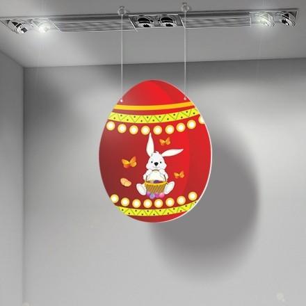 Πασχαλινά αυγό με λαγουδάκι