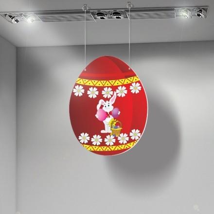 Πασχαλινό αυγό με λουλούδια