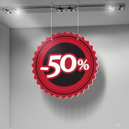 -50% κόκκινο μαύρο