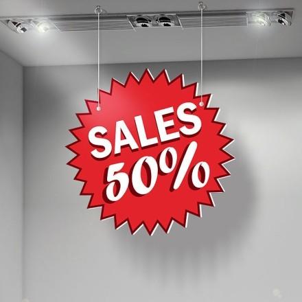 Sales 50% Red backround