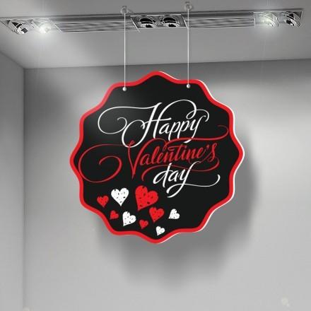 Happy Valentine's Day red black