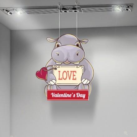 Valentine Day Hippo