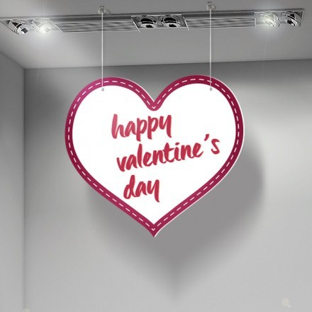 Happy Valentines Day Purple Heart
