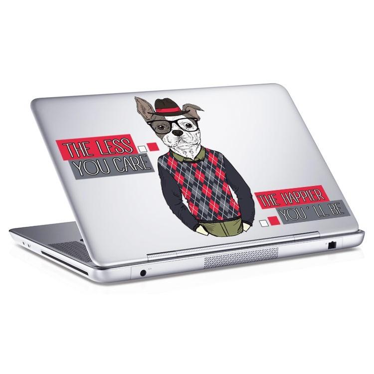 Αυτοκόλλητο Laptop The less you care....