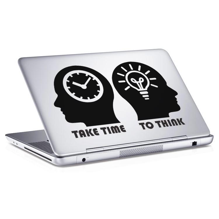 Αυτοκόλλητο Laptop Take time to think
