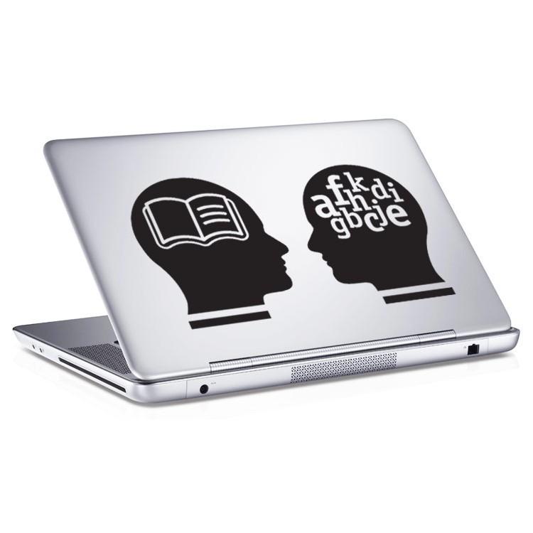 Αυτοκόλλητο Laptop Heads