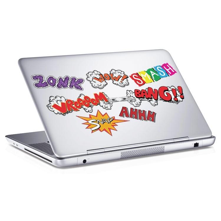 Αυτοκόλλητο Laptop Comic φράσεις