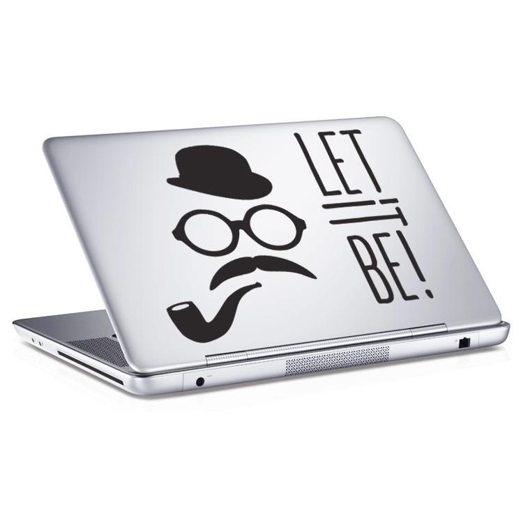 Αυτοκόλλητο Laptop Let it be!