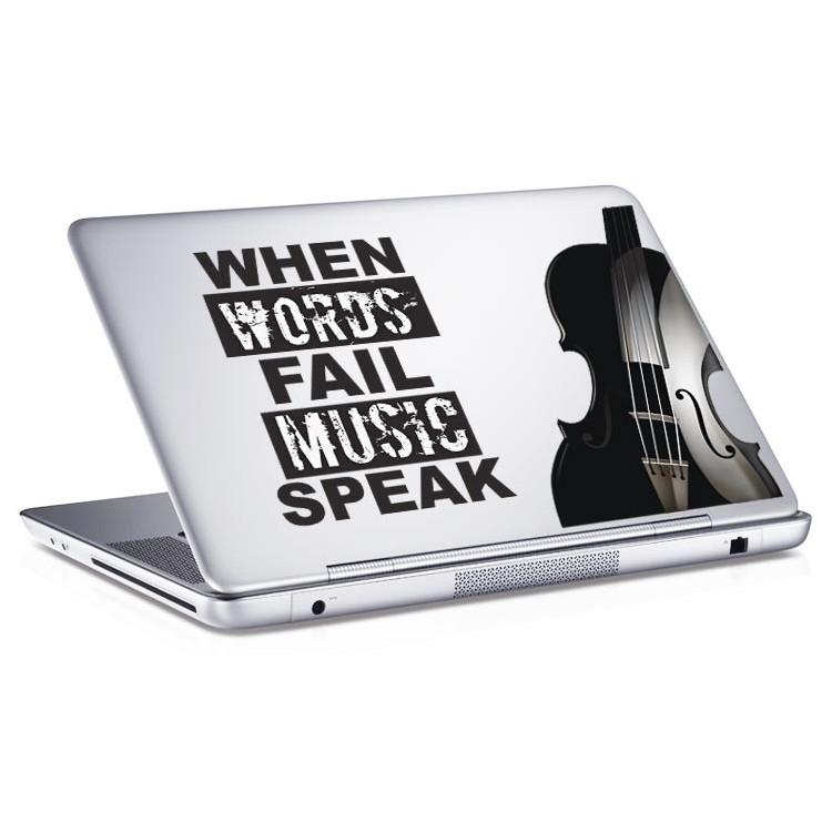 Αυτοκόλλητο Laptop Music Words