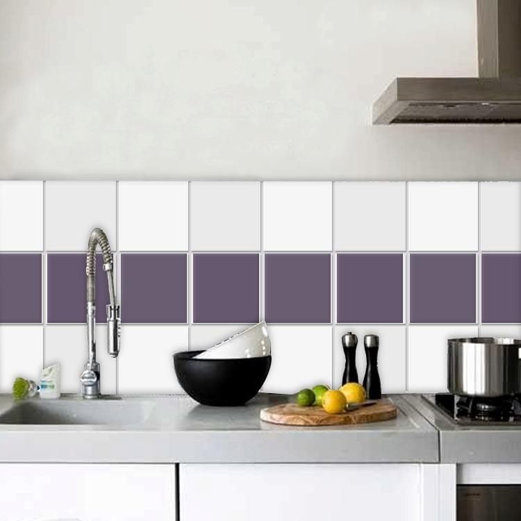 Αυτοκόλλητο Πλακάκι Bishop purple (8 τεμάχια)