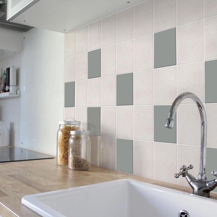 Αυτοκόλλητο πλακάκι τοίχου Concrete Grey (8 τεμάχια)