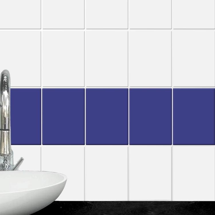Αυτοκόλλητο Πλακάκι Electric blue (8 τεμάχια)