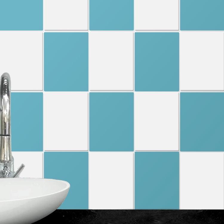 Αυτοκόλλητο Πλακάκι Light blue (8 τεμάχια)