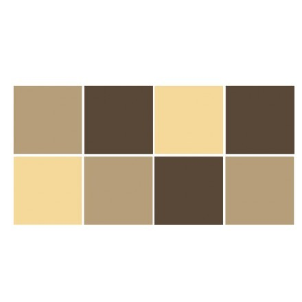 Silk grey - Sepia Brown - Ivory (8 τεμάχια)