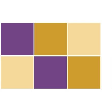 Ivory - Mustard - Violet (6 τεμάχια)