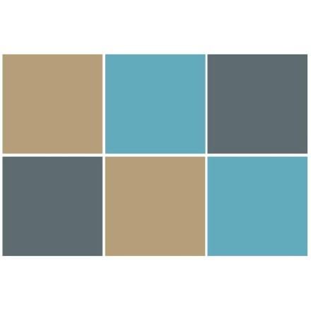 Graphite - Light blue - Silk grey (6 τεμάχια)