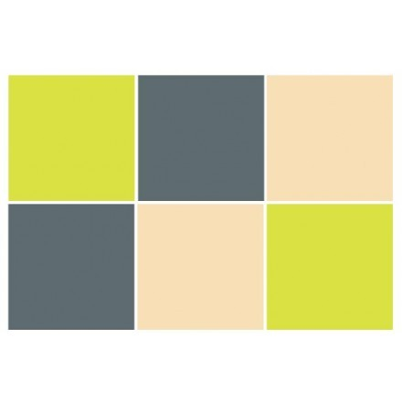 Antique - Graphite - Green yellow (6 τεμάχια)