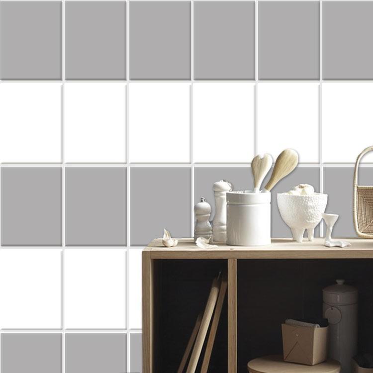 Αυτοκόλλητο Πλακάκι White (8 τεμάχια)
