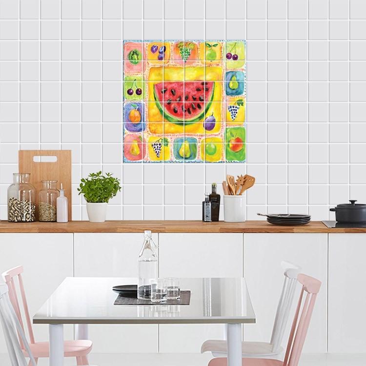 Αυτοκόλλητο Πλακάκι Φρούτα