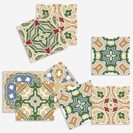 Τούρκικο μωσαϊκό μοτίβο (8 τεμάχια)