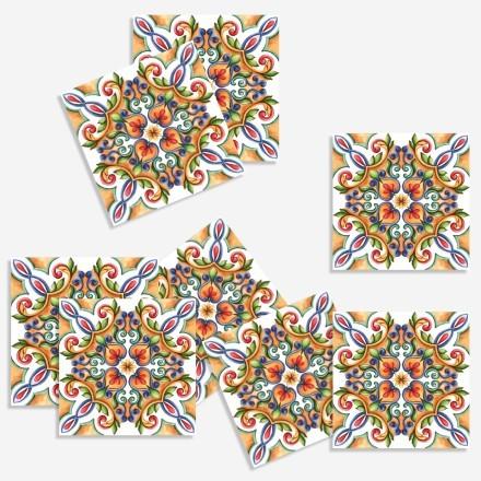 Πολύχρωμο συμμετρικό μοτίβο (8 τεμάχια)