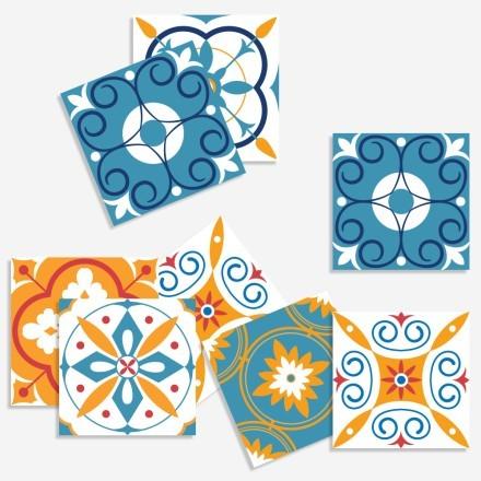 Abstract ισπανικό μοτίβο (8 τεμάχια)