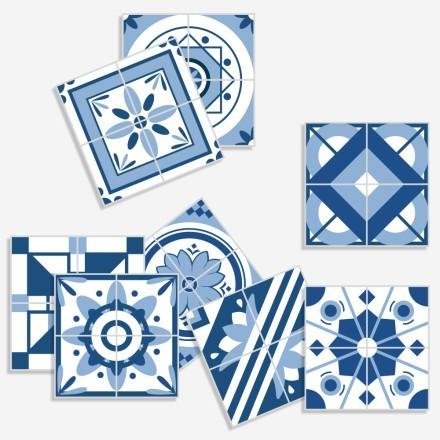 Vintage μπλε μοτίβα (8 τεμάχια)
