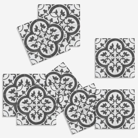 Μοτίβο σε γκρι abstract αποχρώσεις (8 τεμάχια)