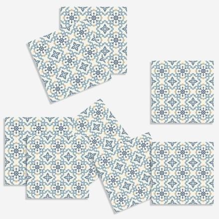 Μοτίβο σε μπλε ανοιχτό (8 τεμάχια)