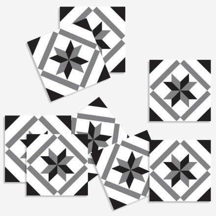 Γκρι-Μαύρο μοτίβο (8 τεμάχια)