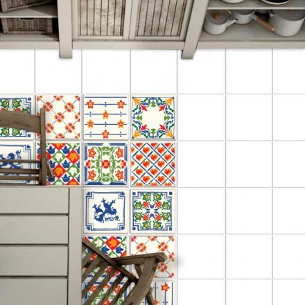Azulejo παραδοσιακό μοτίβο σε επανάληψη (8 τεμάχια)
