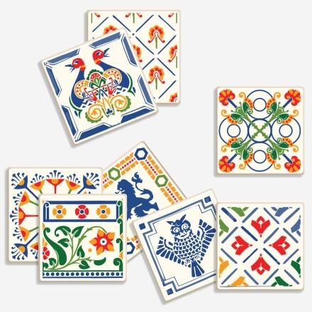 Floral μοτίβο με ζώα (8 τεμάχια)