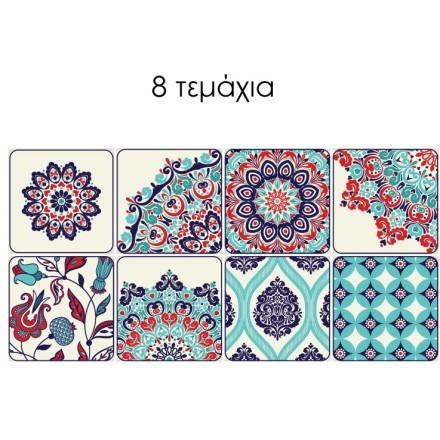 Ομειογενές μοτίβο κουρελού (8 τεμάχια)