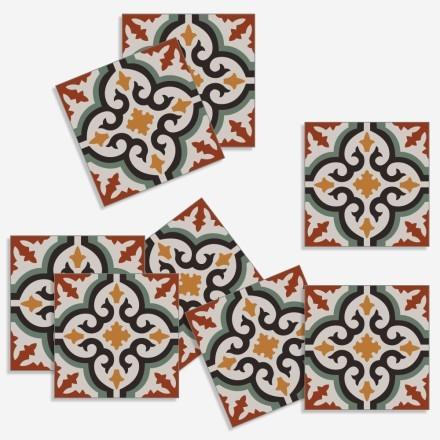 Ρετρό μαροκινό μοτίβο (8 τεμάχια)