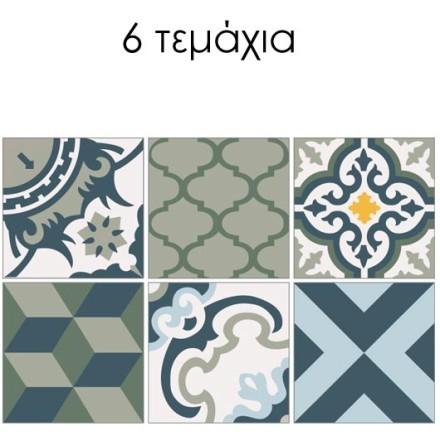 Μοτίβο σε γκρι abstract αποχρώσεις (6 τεμάχια)
