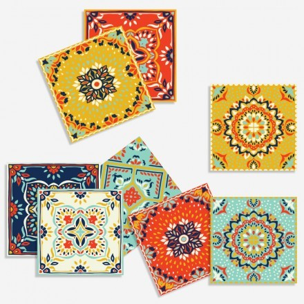 Παραδοσιακό μαροκινό μωσαϊκό μοτίβο (8 τεμάχια)
