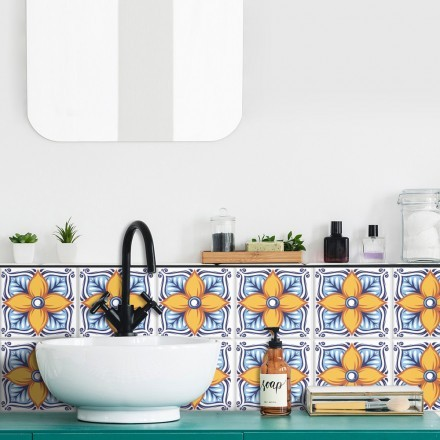 Πορτογαλικό azulejos επαναλαμβανόμενο μοτίβο (8 τεμάχια)