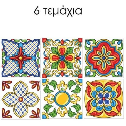 Ανατολικό floral μοτίβο (6 τεμάχια)