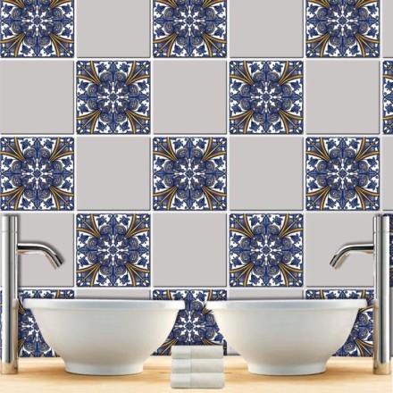 Ινδικό μπλε μοτίβο (8 τεμάχια)
