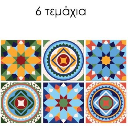 Vintage mandala μοτίβο (6 τεμάχια)